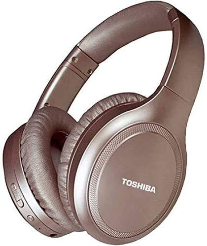 TOSHIBA Rze-BT1200H (PN) Noise Cancelling Over-Ear BT Headphones with Microphone, Rose Gold