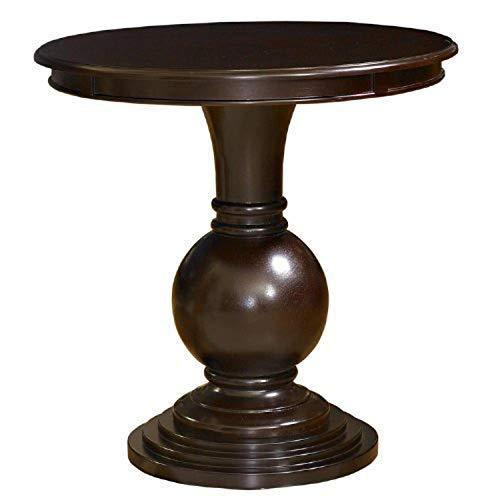 """Powell 809-350 Espresso Round Accent Table 26""""L x 26""""W x 26""""H"""