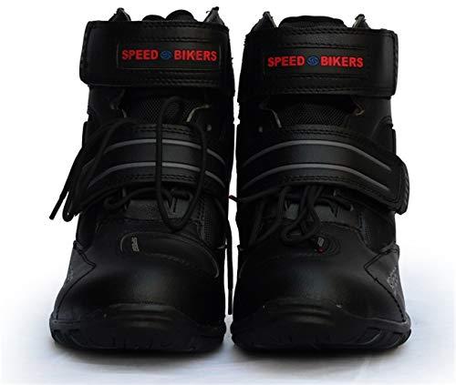 AKAUFENG Motorradstiefel Motorrad Schuhe Herren Kurzstiefel Sneaker Wasserabweisend mit Hartschalenprotektoren Schwarz 39-45