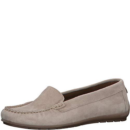 Tamaris Damen SlipperMokassins 24609-34, Frauen Slipper, Slip-on College Schuh Loafer businessschuh weibliche Ladies feminin,Taupe,41 EU / 7.5 UK