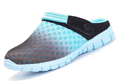 Sandalias de Playa Hombre Mujer,Zuecos de Sanitarios Zapatillas Ligeros Respirable Zapatos Verano,Cielo azul 38