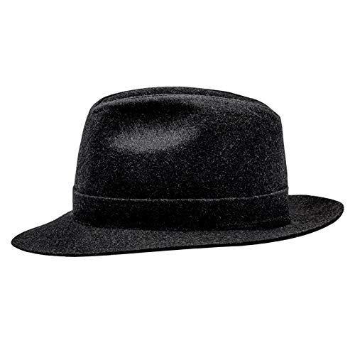 Sterkow Ski coton cousue Fedora Chapeau Marengo Vintage Chapeau Homme - Gris - S