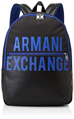 Armani Exchange MIX AND CONTRAST BACKPACK, Zaino Uomo, Nero, Taglia unica