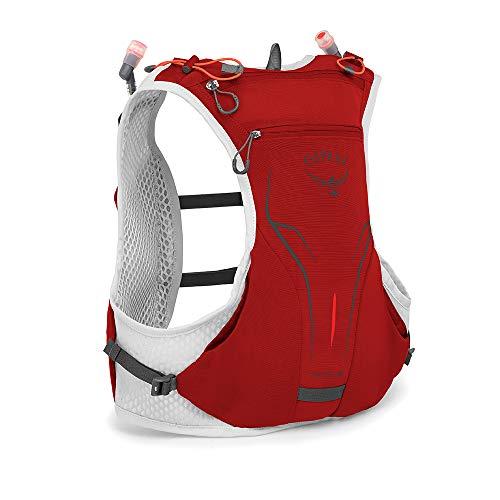 Osprey Duro 1.5 unisex Laufrucksack mit zwei Hydraulics™ 250-ml-Softflaschen - Phoenix Red (S/M)