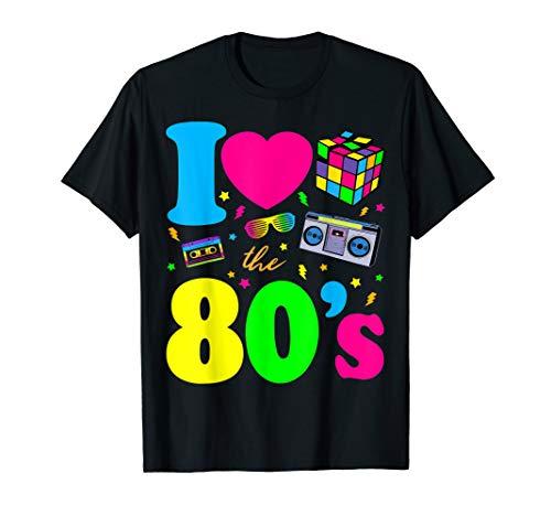 80er Jahre | I Love the 80s | Vintage Retro T-Shirt