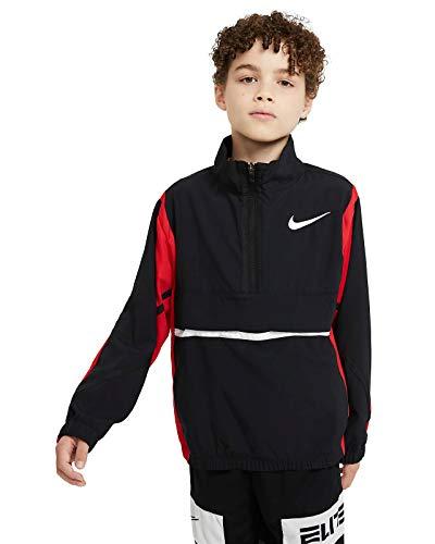 Nike Crossover Basketballjacke für Kinder, Black/University red/White,M