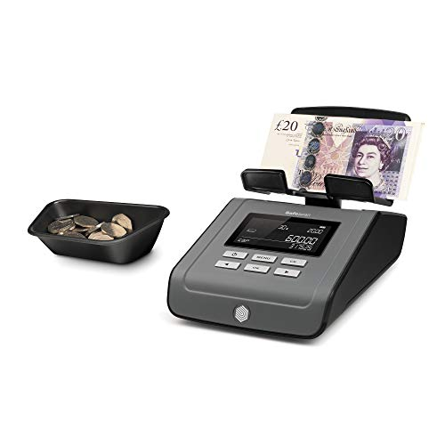 Safescan 6165 - Balanza contadora de dinero para monedas y billetes