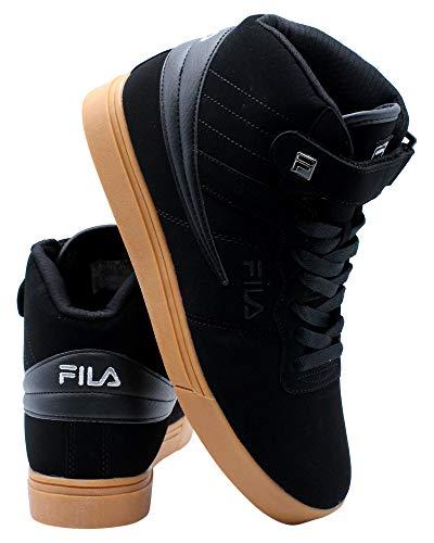 Fila Zapatos Vulc 13 Mid Plus para hombre, negro (negro goma), 44.5 EU