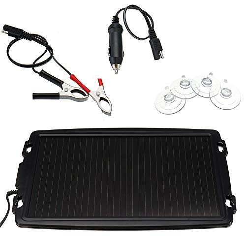 Sonnenkollektor 18V 2.4W Solar Kit Sonnenkollektor-Ladegerät Backup for Auto-Boot Caravan Stromversorgung Für Wohnmobil RV Boat Camper (Color : Black, Size : 10W)