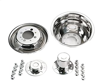 Set of 4 White Knight 42-1608 16-Inch Stainless Steel Universal Fit Wheel Simulator