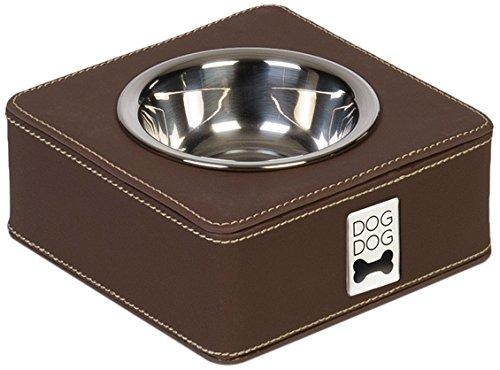 Dogdog Écuelle Quadratique pour Chien Marron Taille S