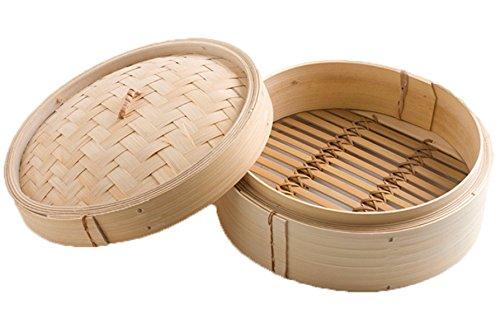 Vapor De Bambú Entero Vapor Hecho A Mano Puro De Si-lun 23cm Vapor De Bambú Una Cubierta Del Cajón Un Vapor Chino De Las Características,Beige-23cm