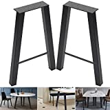 "28inch Set of 2 Industria Table Legs 28""x20"" Dining Table Legs 28""Height 20""Wide Metal Industrial Furniture Legs Coffee Table Legs (28""H×20""W)"