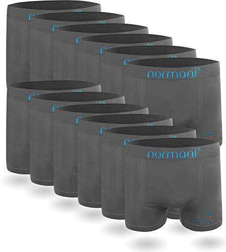 normani 6 oder 12 Mikrofaser-Unterhosen für Herren | atmungsaktive Sport-Funktions-Unterwäsche | Boxershorts | Retroshorts für Männer (Gr. S-3XL) Farbe 12 x Bicycle Größe L/XL