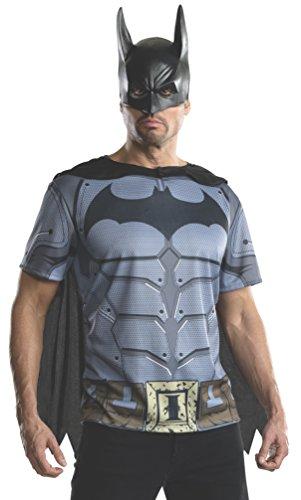 Rubie's Men's Batman Arkham City Adult Batman Top, Multicolor, Large