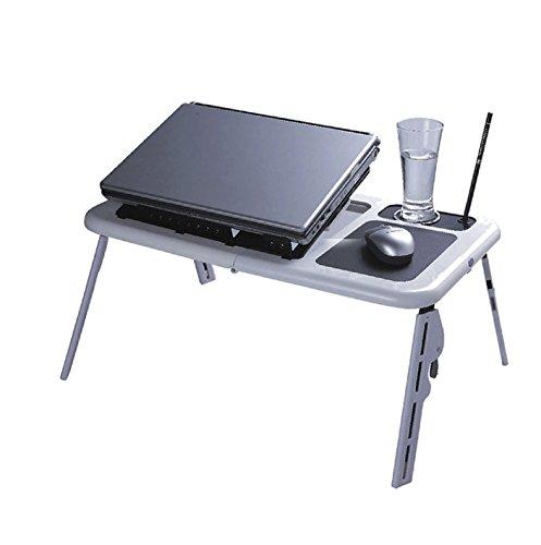 Mesa Portátil Para Notebook Com Cooler (Branco)