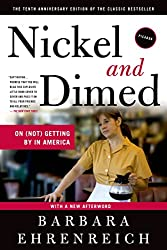 Cover of one of the great Labor Day books, Barbara Ehrenreich's Nickel and Dimed