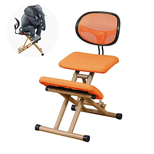 YAMMY Kneeling Chairs, Wooden Height Adjustable Kneeling Posture Chair, Neck Posture Massage Orthopedic Spine Pain and Tension Relief, for Home Office, Oran