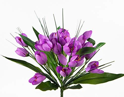 Seidenblumen Roß Krokusbusch 28cm lila PM Kunstpflanzen Kunstblumen künstlicher Crocus Krokus Blumen Pflanzen