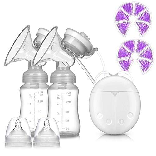 Sebami Extractor de Leche Electrico, Sacaleches Eléctrico extractor de leche electrico Extractor de Leche con botella de almacenamiento de leche para Madre novicia (Con Cojín de Calor Frío)