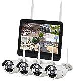 1080p High Definition Night Vision Home Outdoor Sistema De Cámaras De Vigilancia De La Red Wifi De 4/8 Canales Con Kit De Monitoreo Inalámbrico De Seguridad De Pantalla (disco Duro Opc(Size:4 way set)