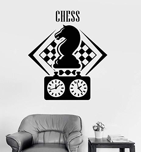 zhuziji Name Wandtattoos Splat , Schachspieler Figur Schachfiguren Intelligenzspiel Liebhaber Teen Boys S Wasserdicht Selbstklebender Kindergarten, Mall Wall St84x94cm