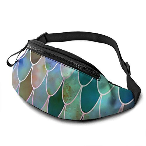 XCNGG Bolso de cintura corriente bolso de cintura de ocio bolso de cintura bolso de cintura de moda Mermaid Tile Waist Pack Durable Running Pack for Mens Women Waist Bag with Headphone Large Compartme