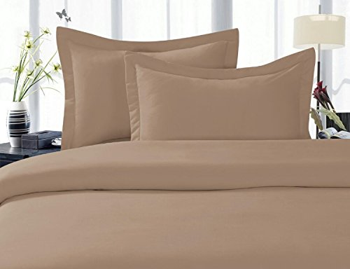 Elegant Comfort 1500 Thread Count Egyptian Quality Super Soft Wrinkle Free 3-Piece Duvet Cover Set ?? Great Deal ??, King/California King - Taupe