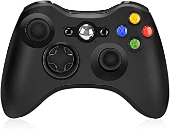 Wireless Controller for Xbox 360 Wireless Controller Remote 2.4GHz Game Controller Gamepad Joystick for Xbox/Slim 360 PC Windows 7/8/10  Black