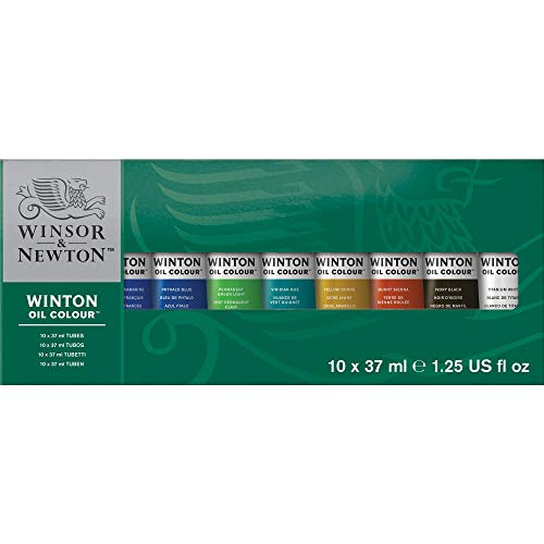 Winsor & Newton- Winton Set de 10 Tubos de 37 ml de óleo, Multicolor (Colart 1490619)