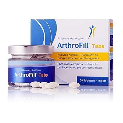 Arthro-Fill Gelenktabletten, hochdosiert. Tabletten mit Hyaluron, Grünlippmuschel, MSM. Wertvolle Gelenknahrung für Knochen u. Knorpel