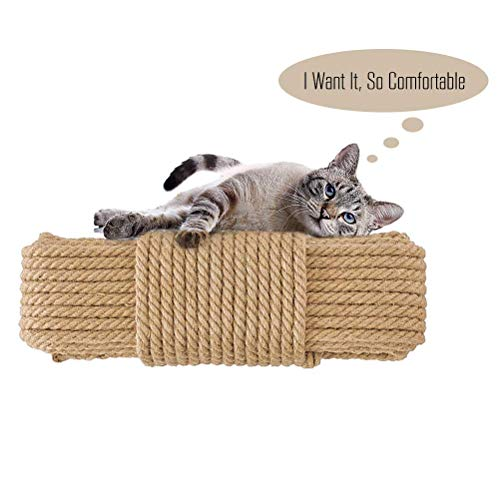 Aoneky Replacement Cat Scratching Post Sisal Rope - Hemp Rope for Cat Tree and Tower