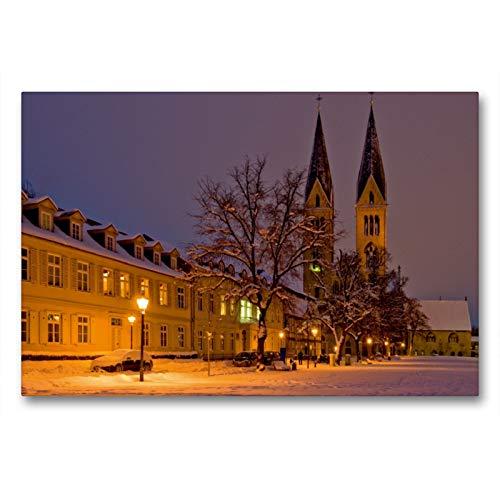 Premium Textil-Leinwand 90 x 60 cm Quer-Format Winterlicher Domplatz | Wandbild, HD-Bild auf Keilrahmen, Fertigbild auf hochwertigem Vlies, Leinwanddruck von Ulrich Schrader