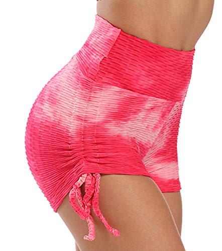 KIWI RATA Mallas Cortas Push Up Mujer Pantalones Cortos Deportivos Cintura Alta Yoga Leggings Pantalón de Verano Fitness Leggins Shorts Running Elásticos Cómodo y Transpirable