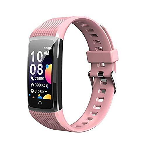 Pulsera inteligente inteligente de actividad R12 pantalla a color, impermeable, podómetro, pulsera inteligente para niños, mujeres y hombres, rastreador de fitness, color rosa
