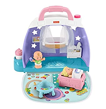 Fisher-Price Little People Cuddle & Play Nursery Portable Nursery Play Set for Toddlers and Preschool Kids Up to Age 5