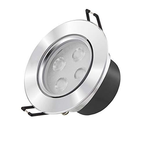 Modenny LED Driver Encastré Plafond Downlight Lampe Ultra Bright Ampoule Lumière Spotlights en Aluminium Plat Mince Panneau Plafond Spotlights pour La Maison Illumination Salon Chambre Corridor Allée