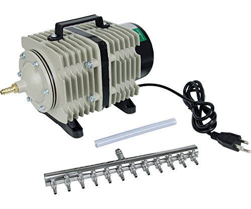 Hydrofarm Active Aqua Commercial Air Pump, 12 Outlets, 112W, 110 L/min