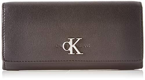 Calvin Klein Ckj Monogram Hw Long Fold - Borse a tracolla Donna, Nero (Black), 1x1x1 cm (W x H L)