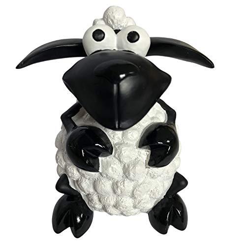 OF Gartenfiguren Schaf Molly - Dekofiguren für außen - Wetterfest (Weiß)