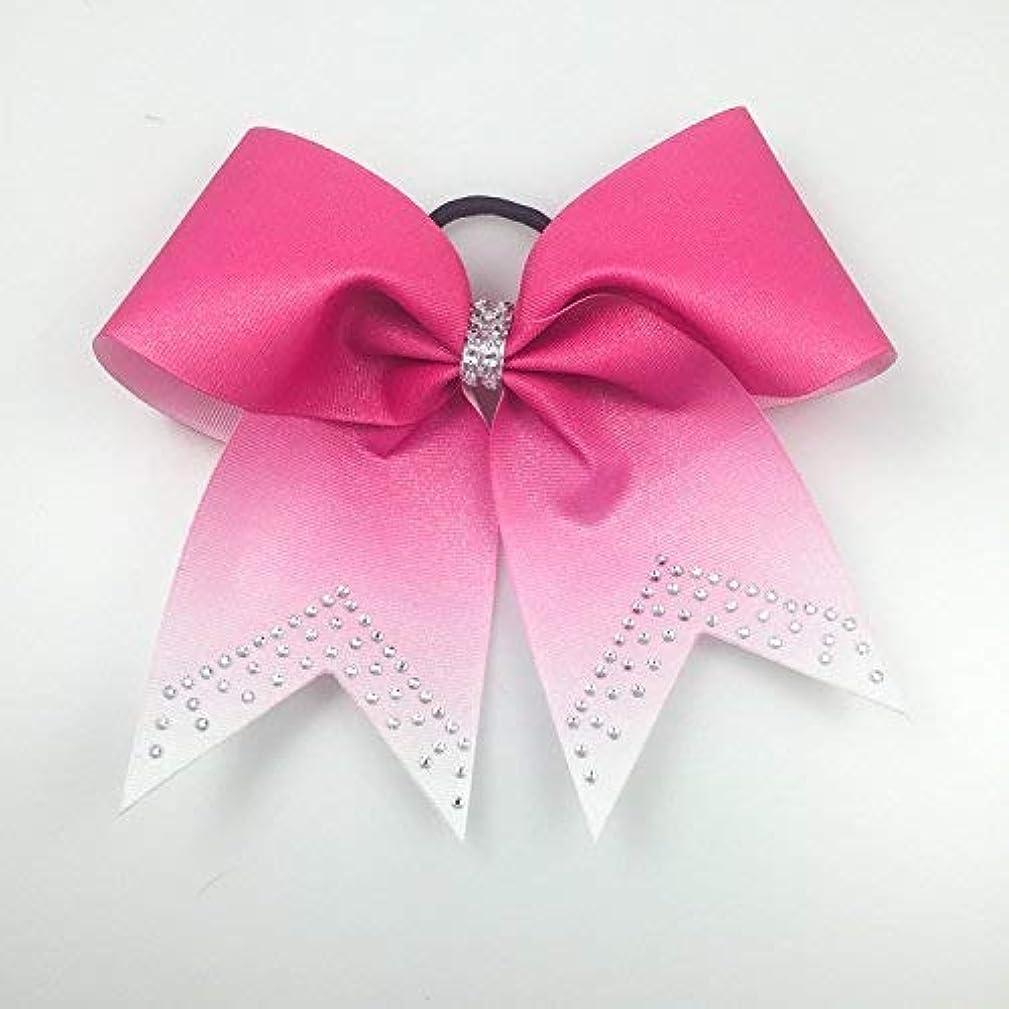 Cheer Bows Pink - Pink Bows - Ombre Cheer Bows - Cheer Bows Rhinestone Bows - Volleyball Bows - Softball Bows - Breast Cancer Bows