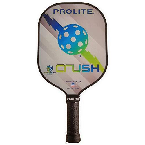 Pro-Lite Prolite Crush Power Spin Pickleball Paddle 13mm Noise Dampening Polypropylene Honeycomb Core (Weight Range 7.6-8.2 oz, High Tide (Blue/Green))