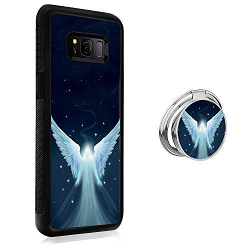 Case for Samsung Galaxy S8 Plus case Angel With Ring Holder Slim Soft and Hard Tire Shockproof Protective Phone Cover Case Slim Hybrid Shockproof Protective Case Anti-Scratch Cushion Bumper with Reinf