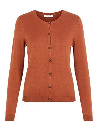 PIECES PCESERA LS Knit Cardigan Noos Chaqueta de Punto, Detail:CP/Mocha Bisque, XL para Mujer