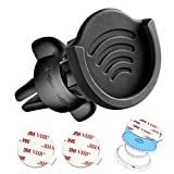 Air Vent Phone Holder for Socket Mount, pop-tech 360° Rotation Vent Clip Car Mount Silicone with Adjustable Switch Lock for Collapsible Grip/GPS Navigation & 3M Sticky Adhesive for Expanding Stand