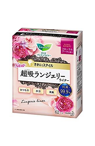花王 ライナー 14cm ロリエ きれいスタイル 超吸ランジェリーライナ フローラルブーケの香り 1セット(62枚×6個) 花王