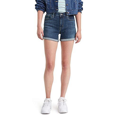 Levi's Women's Mid Length Shorts, Maui Ocean Depths, 28 (US 6)
