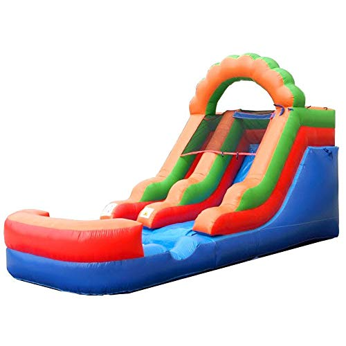 Pogo Bounce House Rainbow Crossover Inflatable Water Slide |...