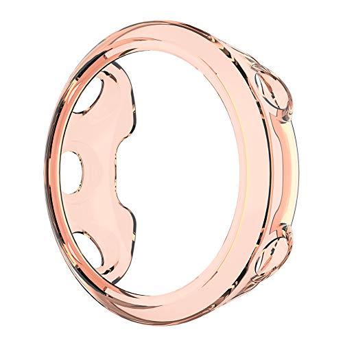 Matefielduk Funda Protectora para Yoshiaki Garmin Swim 2 Watch Case Cover 45mm,Protector Pantalla,TPU,Reloj Inteligente Anti-Rasguños,Ultra Transparente