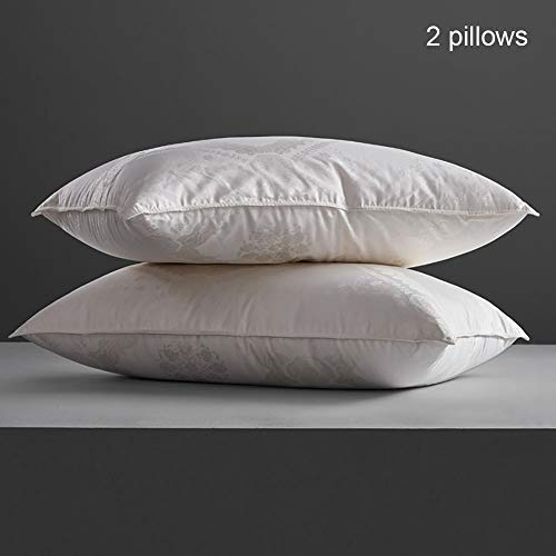 ZJING Pillow, Cozy Dream Series Hotel Quality Pillows for Sleeping [Set of Two] Premium Plush Fiber, 100% Breathable Cotton Cover Skin-Friendly